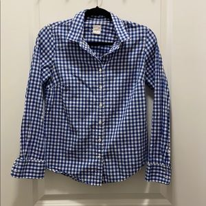 Blue and White Checkered JCrew Shirt